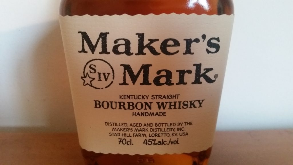 A close up of the Makers Mark label