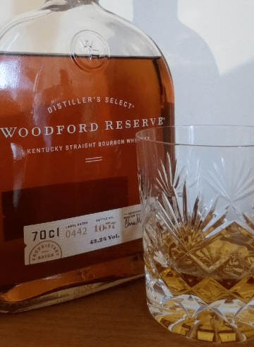 A bottle of Woodford Reserve Distillers Select