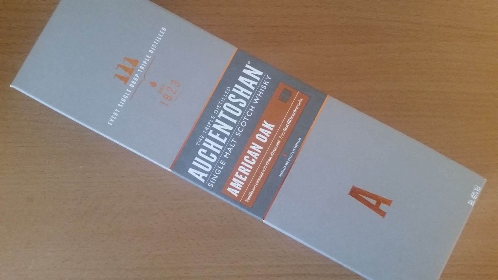 The Auchentoshan American Oak Box