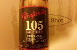 A Glenfarclas 105 miniature bottle