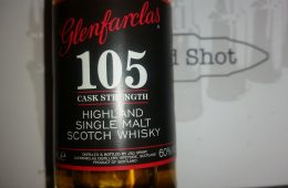 A miniature bottle of Glenfarclas 105
