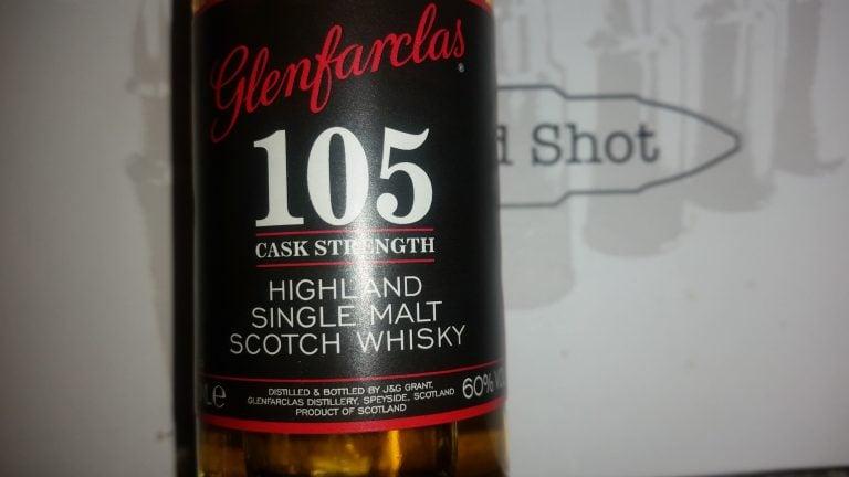 A miniature bottle of Glenfarclas 105