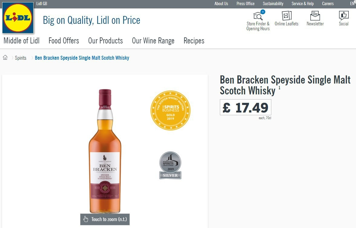 Ben Bracken on the Lidl website