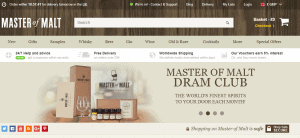 A screenshot of the Master of Malt website