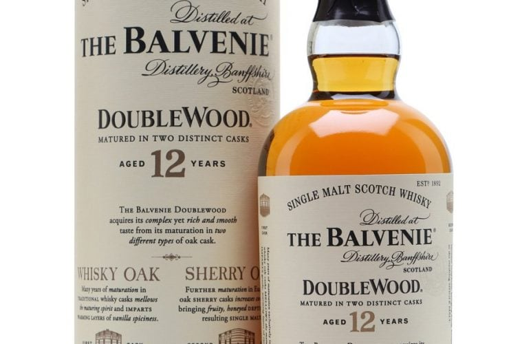 A bottle of The Balvenie 12 Doublewood