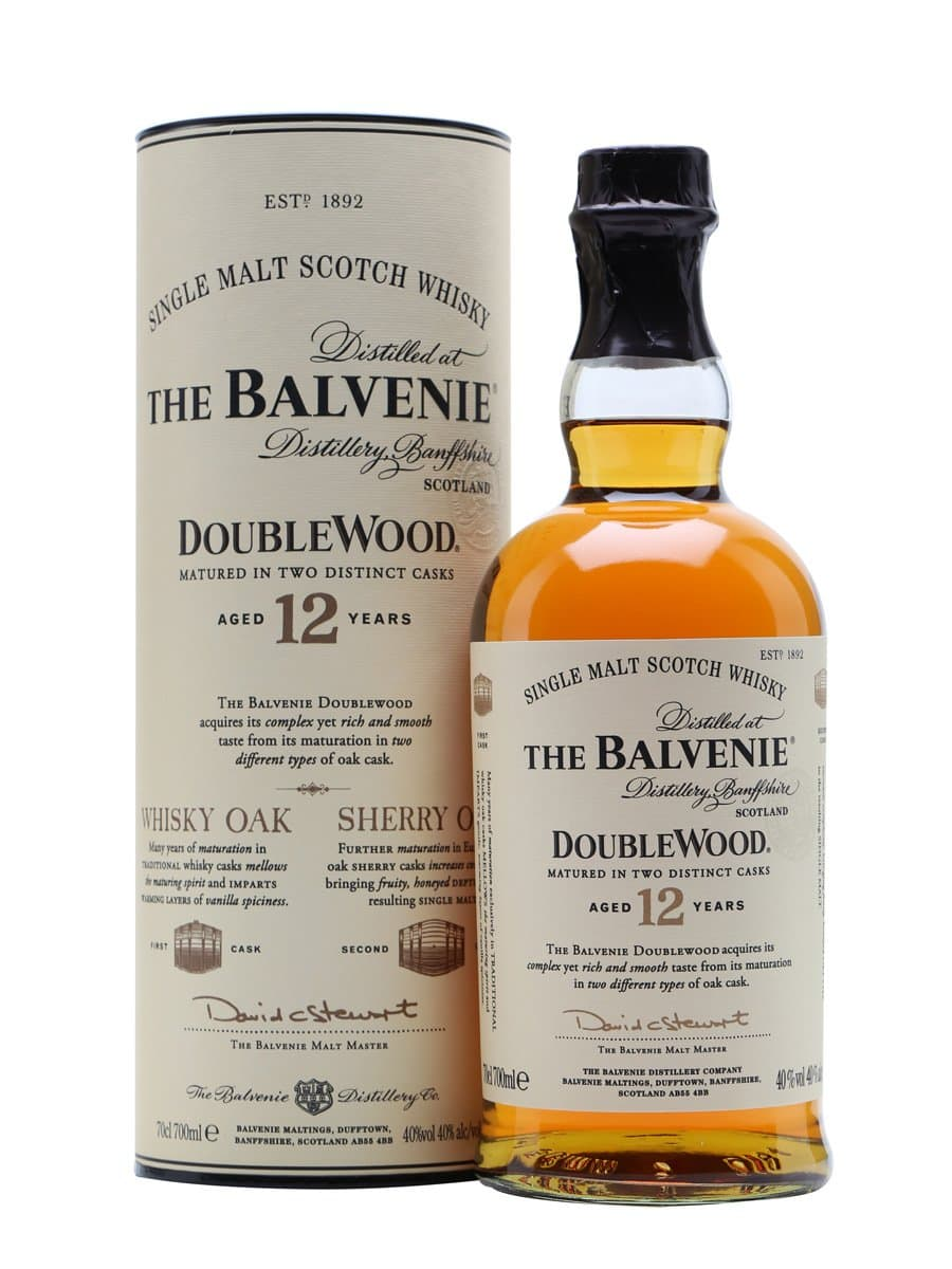 A bottle of The Balvenie 12 Doublewood