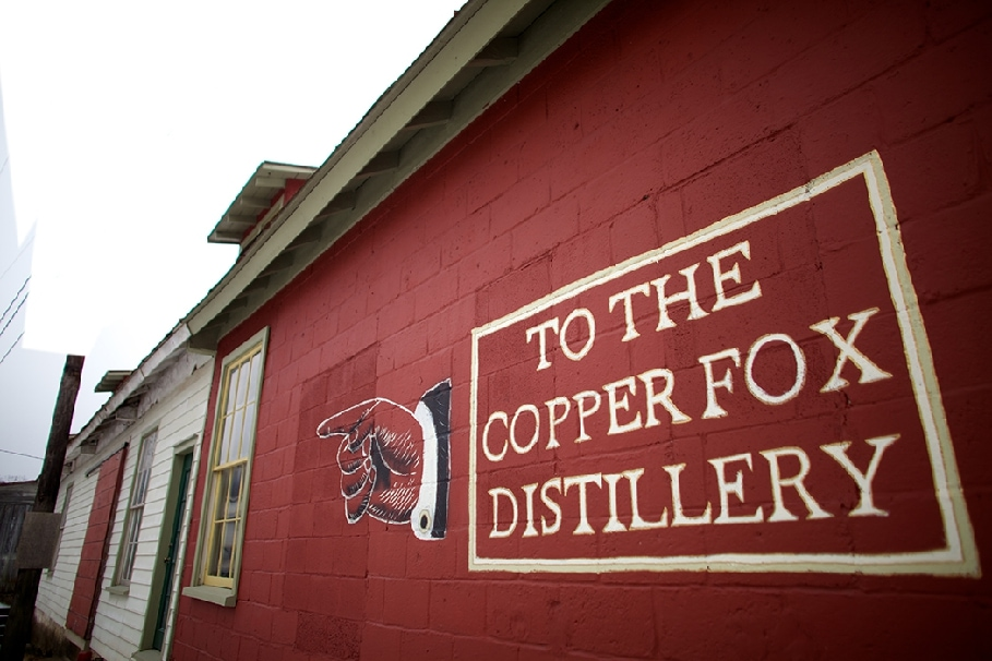 Outside shot of the Copper Fox Distillery