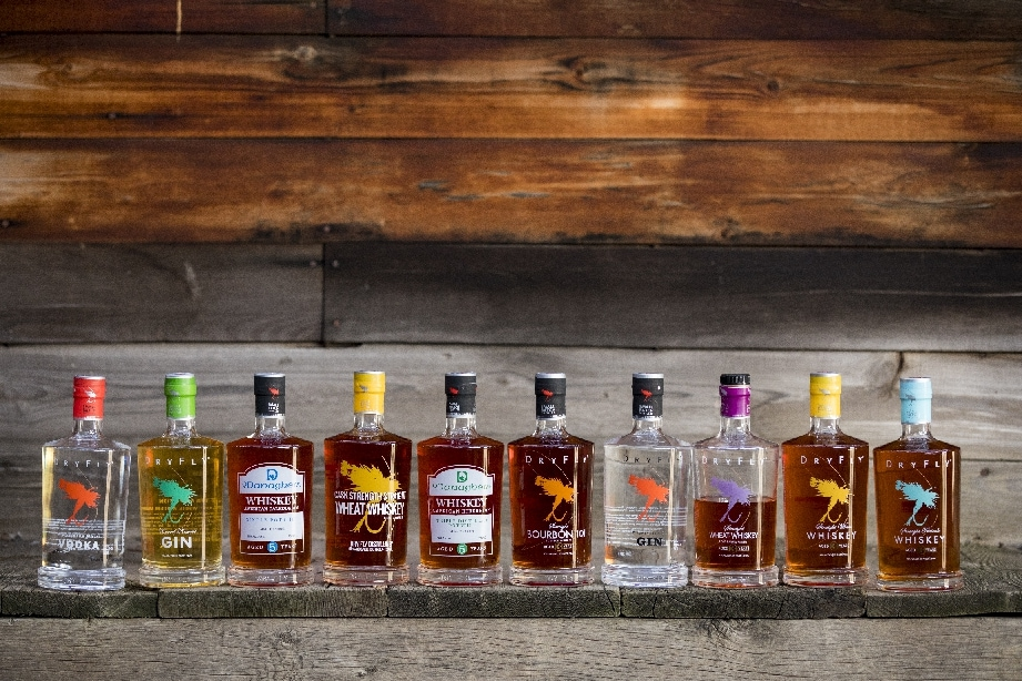 The Dry Fly Distillery drinks range