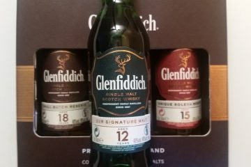 A miniature bottle of Glenfiddich 12 Year Old