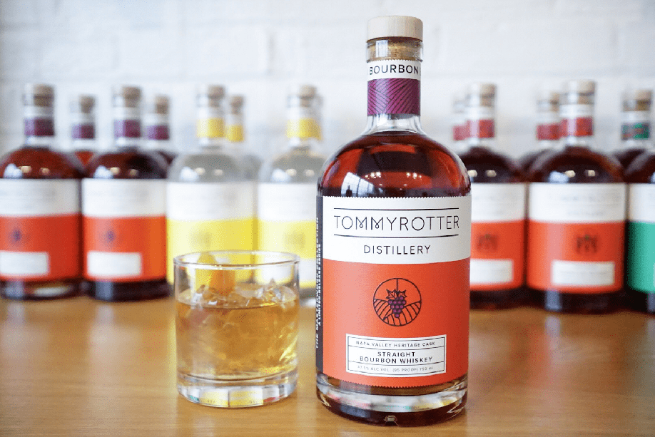 A bottle of Tommy Rotter bourbon