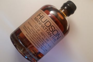 A bottle of Hudson Manhattan Rye