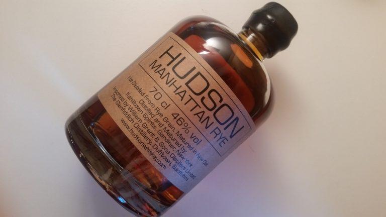 A bottle of Hudson Manhattan Rye