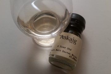 A glass of Port Askaig 8 Year Old