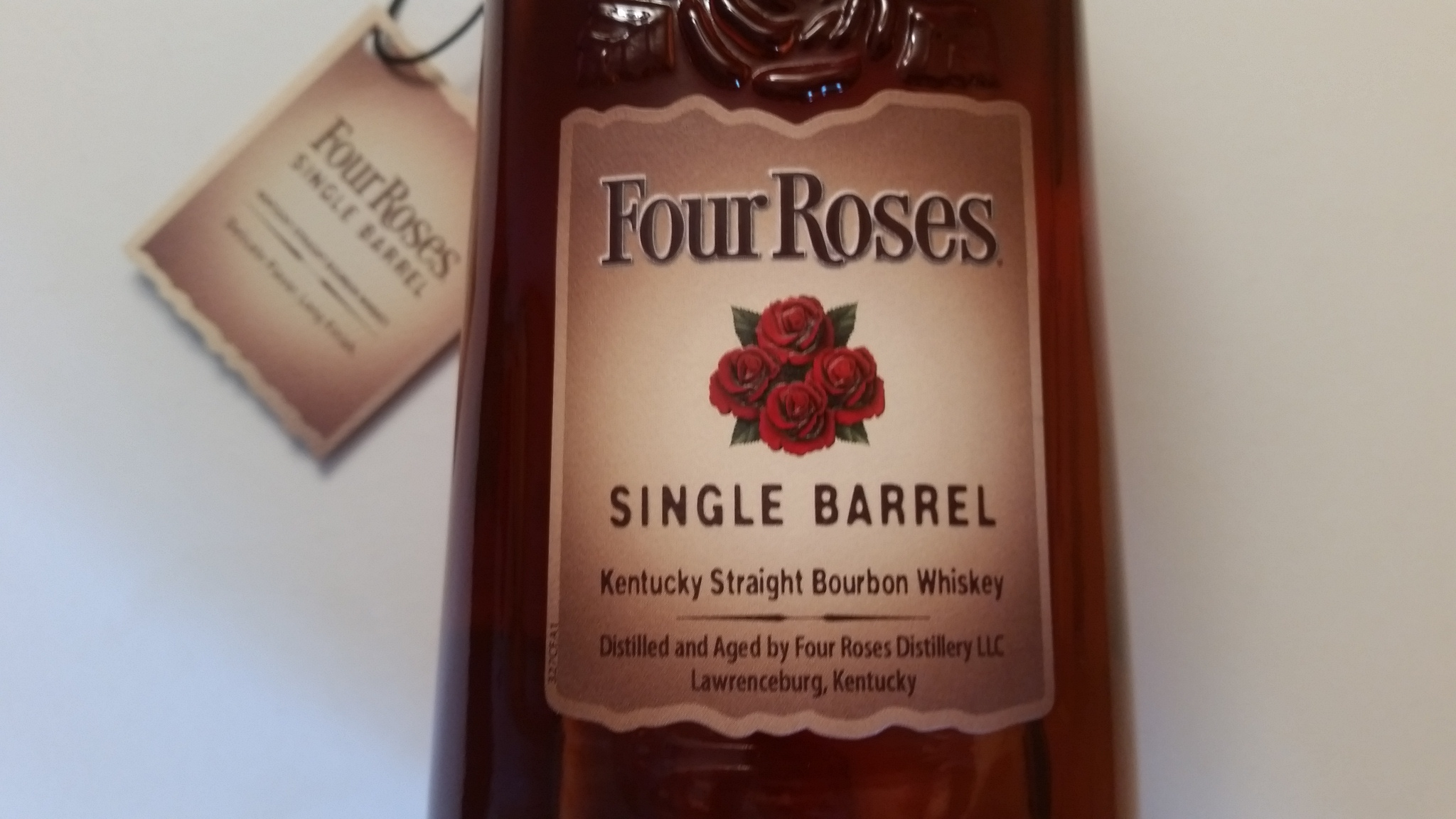 The Four Roses Single Barrel bottle label