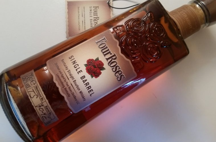 A bottle of Four Roses Single Barrel