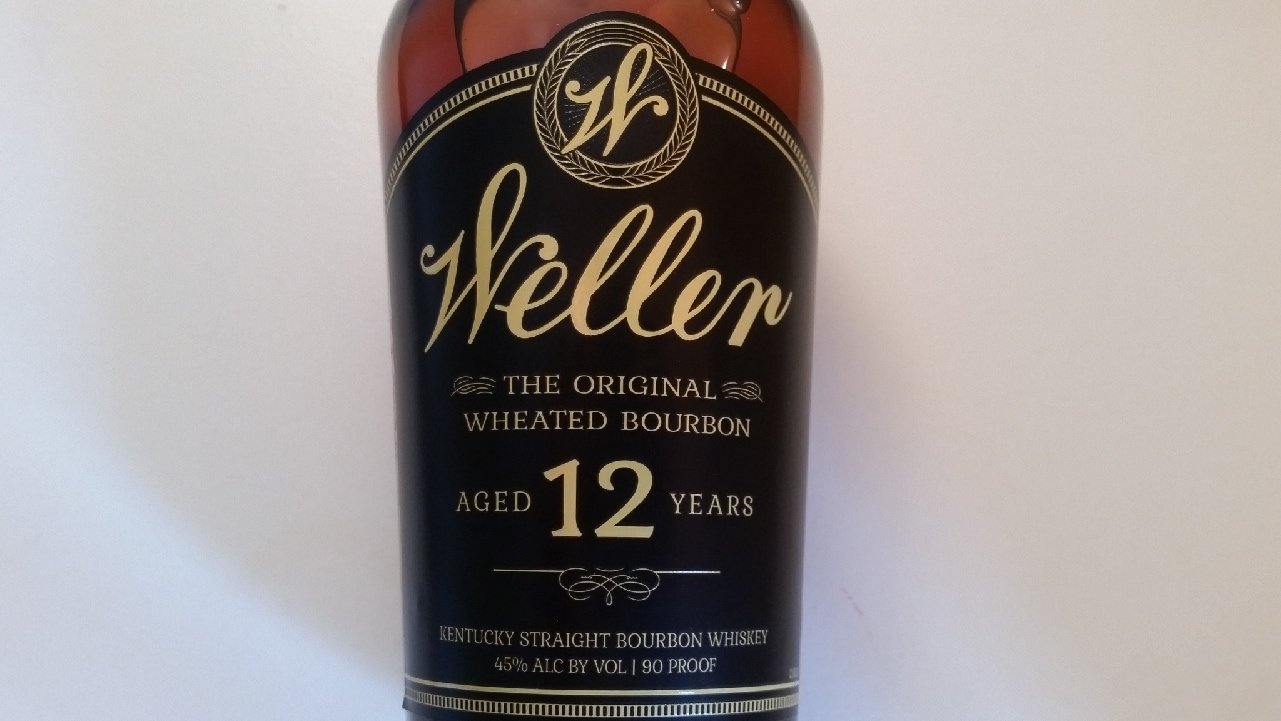 The label on a bottle of Weller 12