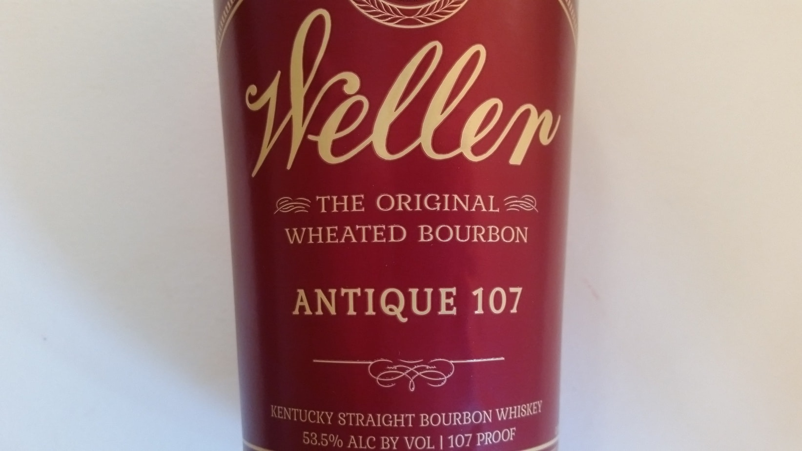 The Old Weller Antique 107 label