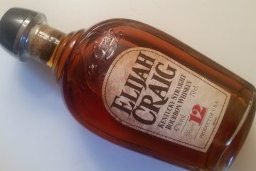 A bottle of Elijah Craig 12 Year Old