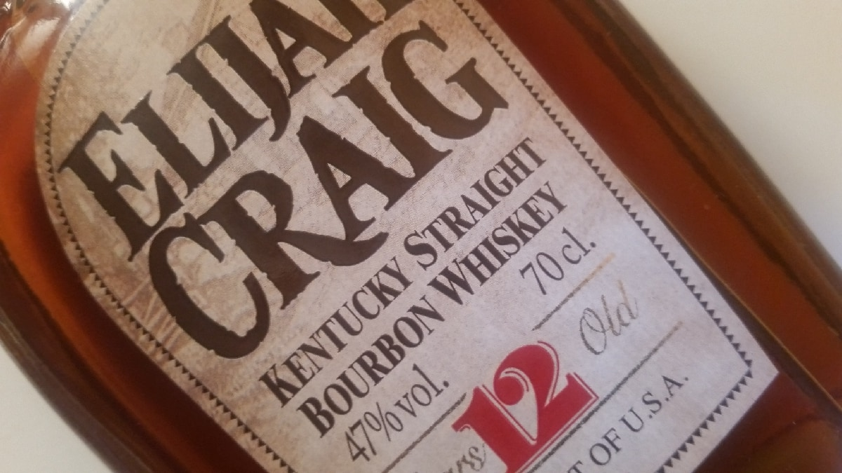 The Elijah Craig 12 label
