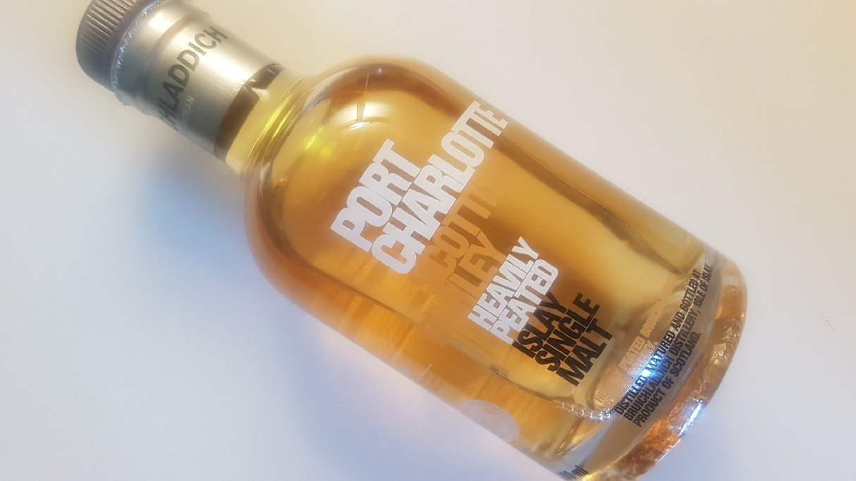 A bottle of Bruichladdich Port Charlotte