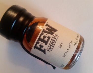 A sample of FEW Rye whiskey
