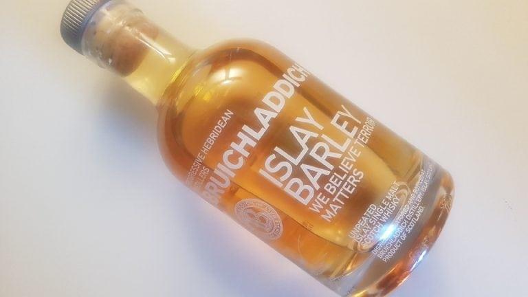 A bottle of Bruichladdich Islay Barley