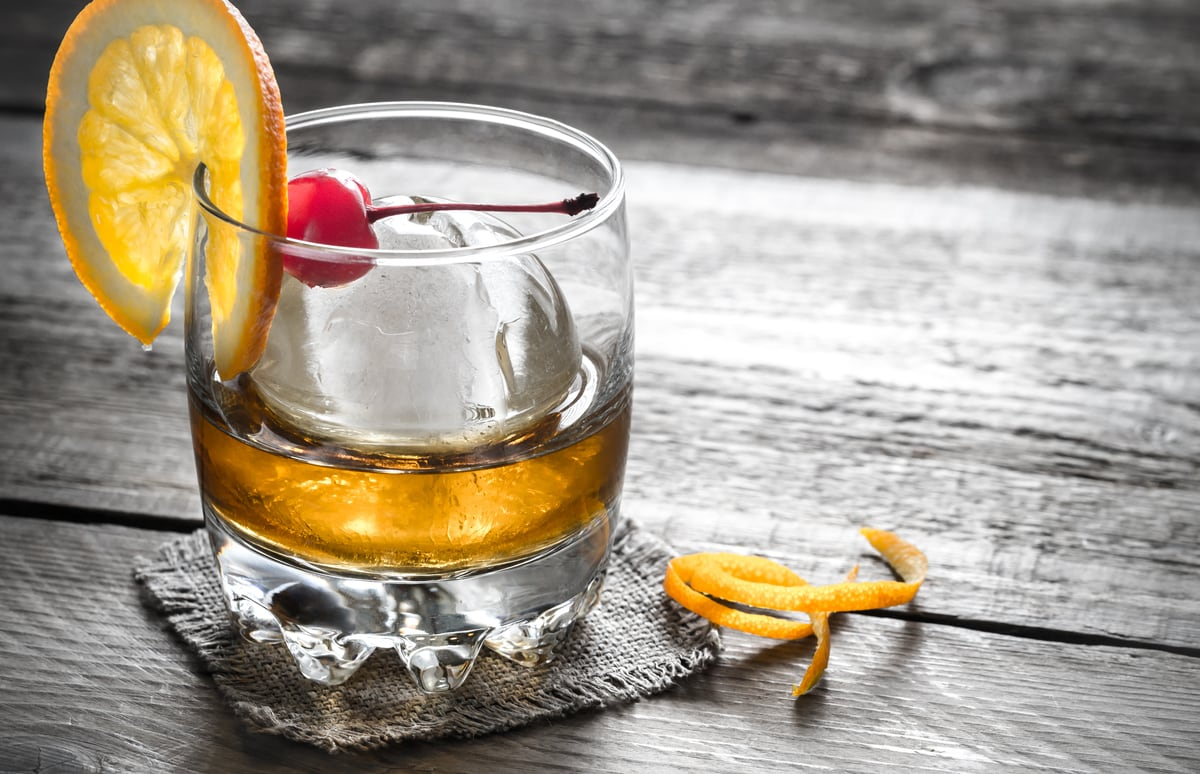 An Old Fashioned Cocktail