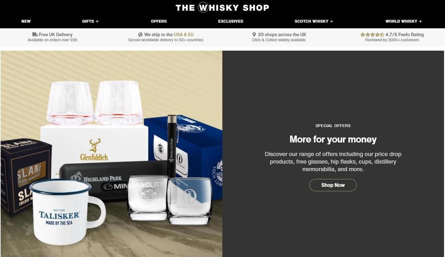 The Whisky Shop Homepage