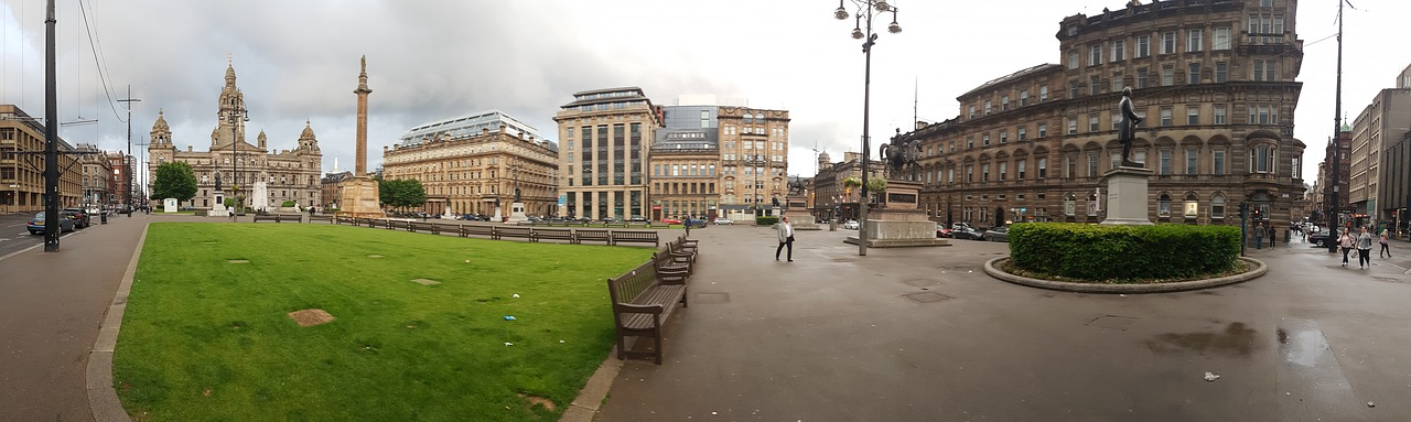 The centre of Glasgow, Scotland