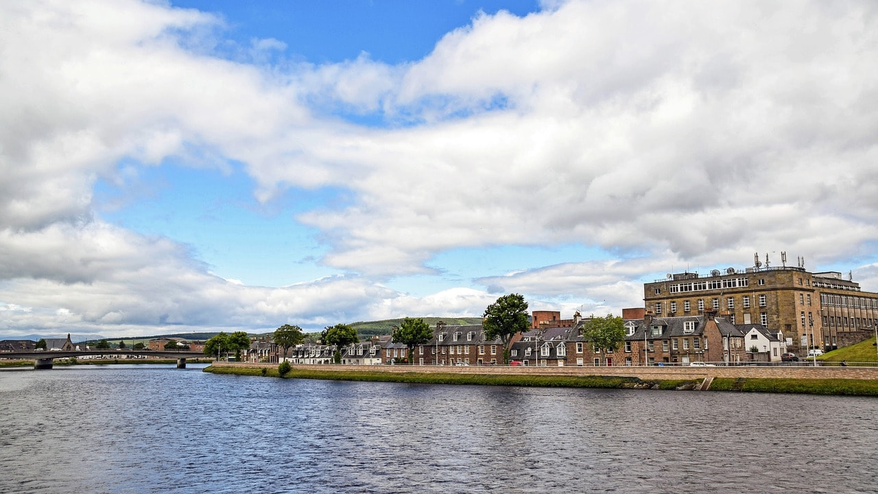 The city of Inverness, Scotland