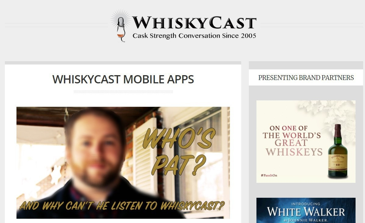 Whisky Cast home page