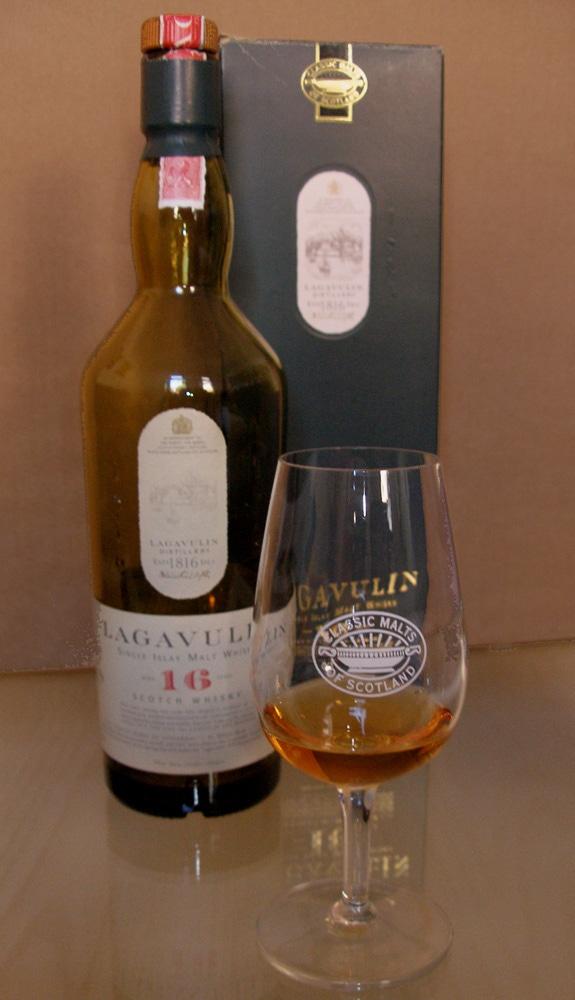 A bottle of Lagavulin 16