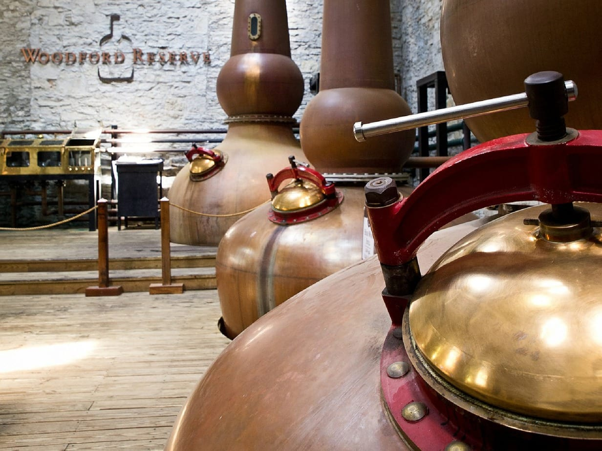 The Woodford Reserve whiskey distillery