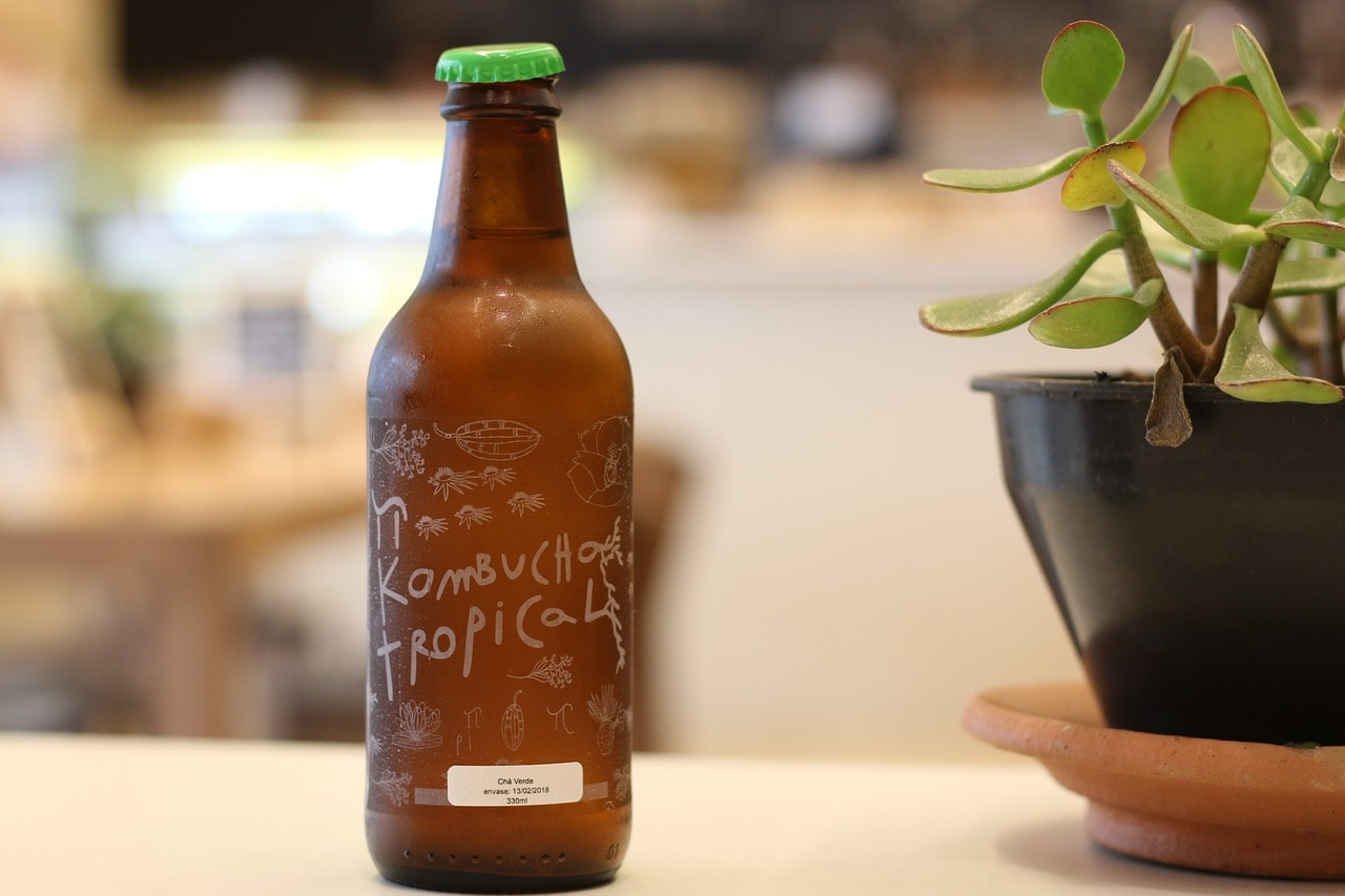 A bottle of Kombucha