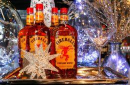 Four bottles of Fireball whiskey