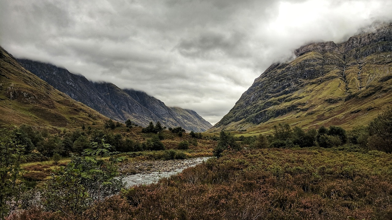 A valley in the Scottish Highlands