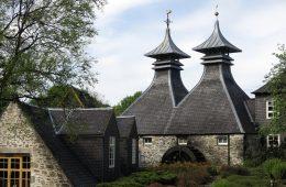 A Scottish whisky distillery
