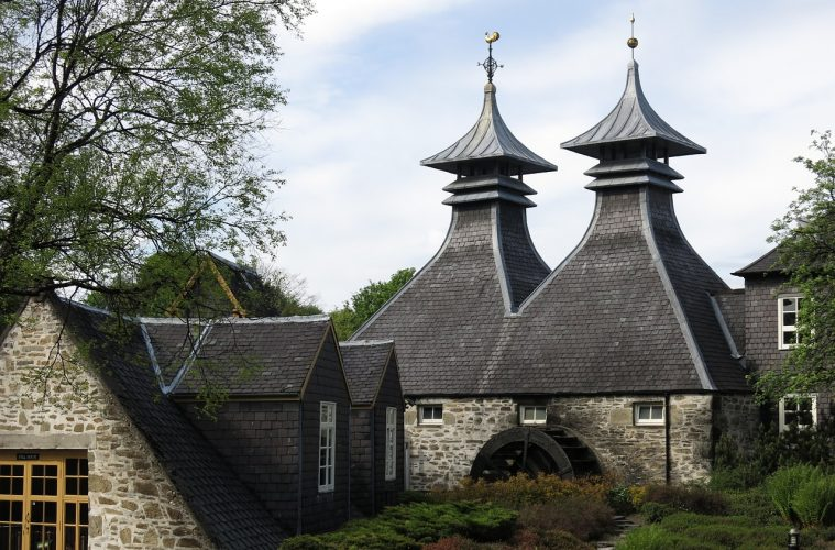 A Scottish whisky distillery