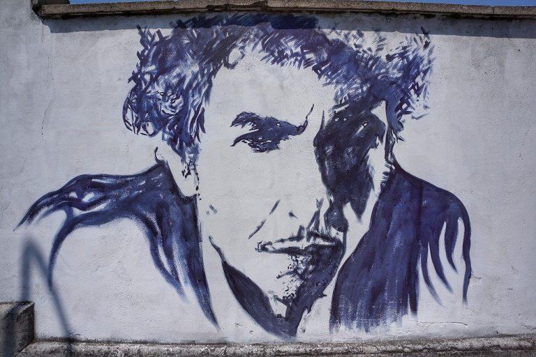Bob Dylan street art mural