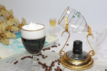 A glass of Irish coffee