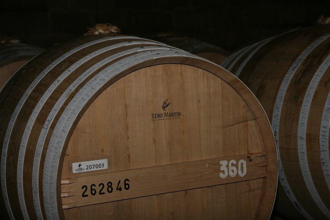 A Remy Martin cognac barrel