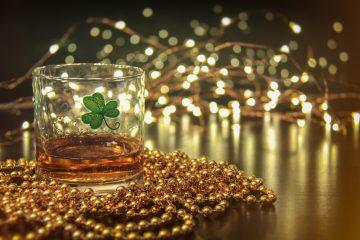 A glass of Irish whiskey