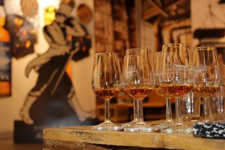Several whisky tasting glasses