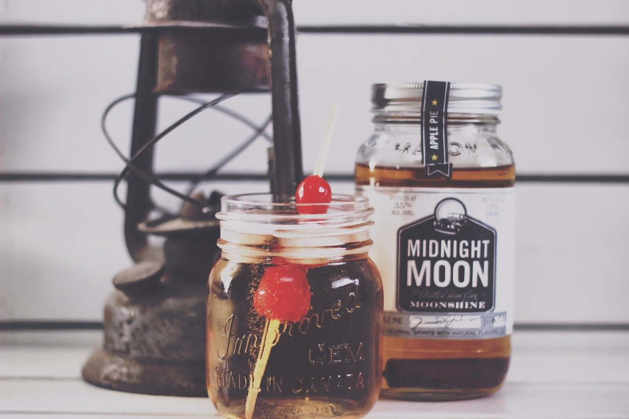 A bottle of Moonshine