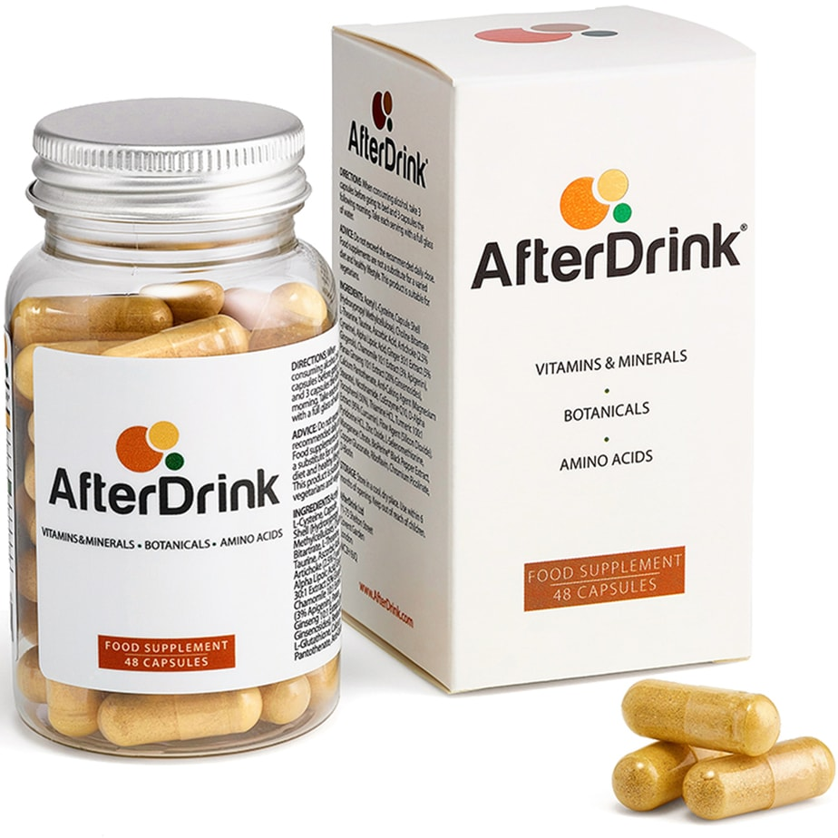 A bottle AfterDrink pills