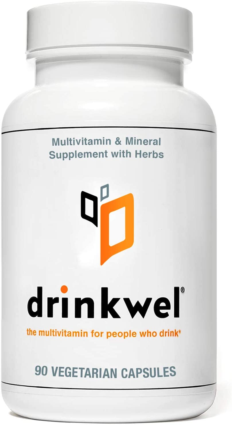 A bottle of Drinkwell pills