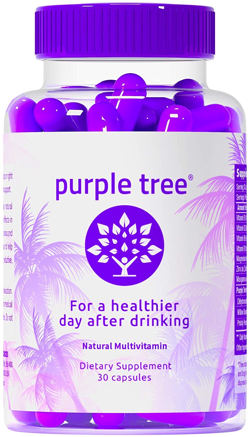 A bottle of Purple Tree pills