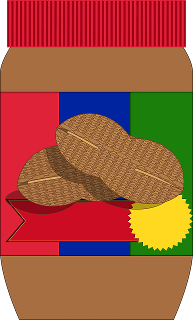 An illustration of a jar of peanut butter